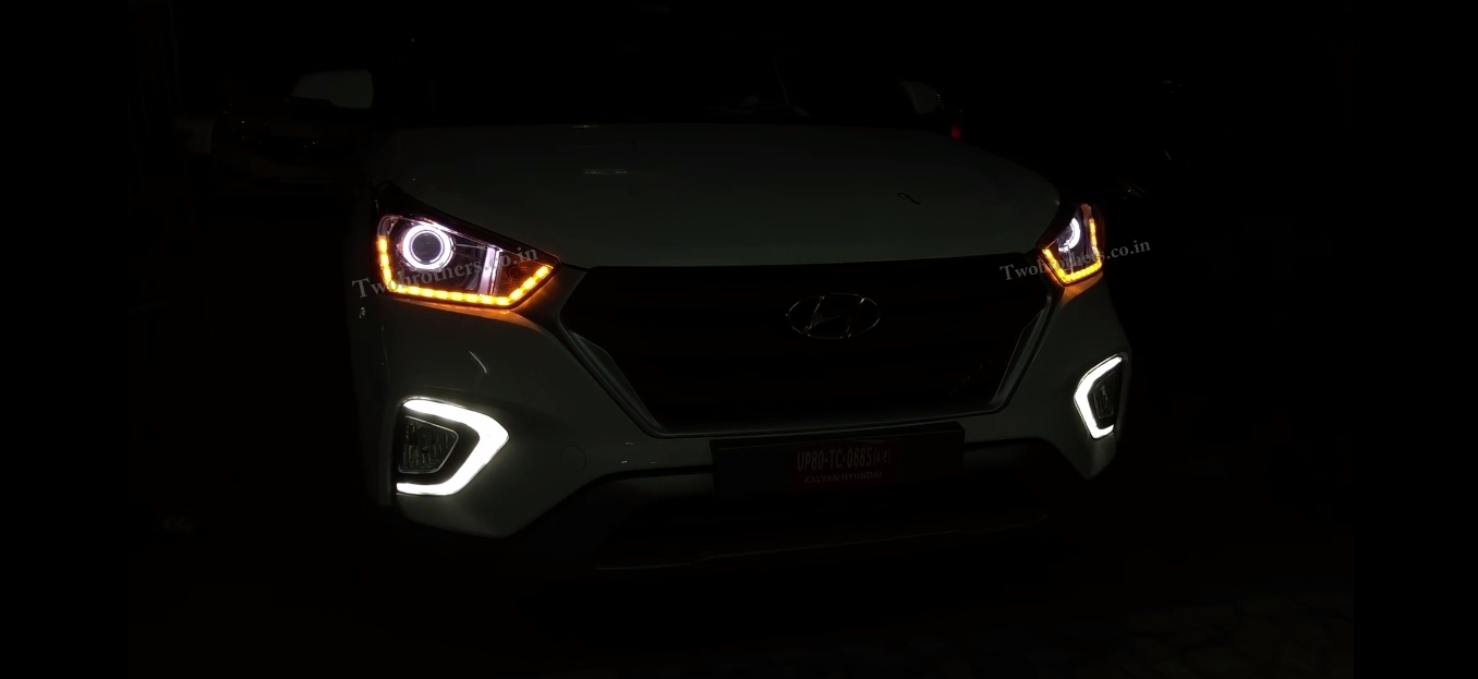 New Creta Projector Headlights With Matrix Drl